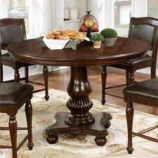 furniture of america perry counter height pedestal dining table