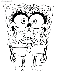 Printable Sugar Skull Coloring Pages Printable Sugar Skull Coloring