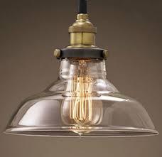 rh loft pendant lights nordic american glass bowl hanging lamp inside edison light fixture design 7