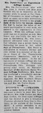 Ida Porter-Boyer as experienced suffrage speaker - Newspapers.com