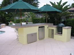 Big Green Egg Outdoor Kitchen Outdoor Kitchen With Big Green Egg Charcoal Smoker And Seating
