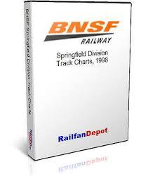 Bnsf Springfield Division Track Chart 1998 Pdf On Cd Railfandepot 634972952175 Ebay