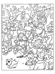 Kleurplaat Sinterklaas Pepernoten Kleurplatennl