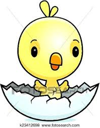 chicken hatching clipart.  Hatching A Cartoon Illustration Of A Baby Chick Hatching From An Egg With Chicken Hatching Clipart