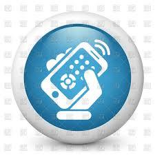 remote control clipart. smartphone remote control icon vector clipart clipart