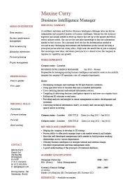 Business Intelligence Manager Resume 1 Example Bi Online Job