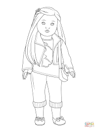 coloring page of girl