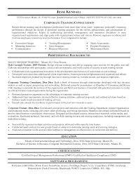 Resume Of Trainer Corporate Trainer Resume Examples Hirnsturm Me