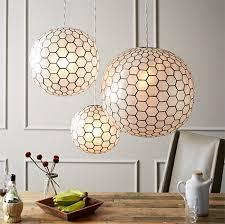 capiz chandelier orb light west elm