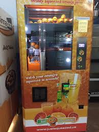 Vending Machines San Diego Ca Delectable Cinnabon And Fresh Oj Vending Machine How Cool Is That Yelp