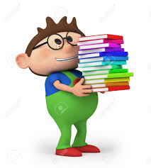 cute little cartoon boy carrying books high quality 3d ilration stock ilration 13753809