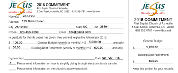 church pledge cards template april onthemarch co