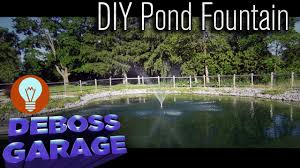Diy Pond How To Turn A Sump Pump Into A Cheap Diy Pond Fountain Youtube