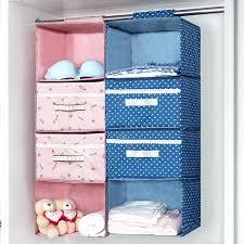 hanging closet storage organizer with drawers