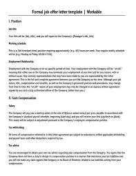 Specific job roles for each partner should be clearly defined in the agreement. Job Offer Letter Sample Letters And Examples Word Pdf