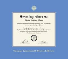 custom diploma frames certificate frames framing success  geisinger commonwealth school of medicine diploma doc of md 2017 to present frame and gray double mat and gold embossing