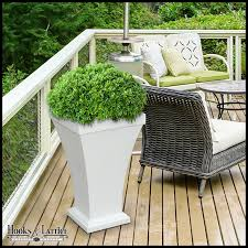 tall patio planter white to enlarge