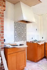 Tile Backsplash Kitchen A Cement Tile Backsplash In The Kitchen