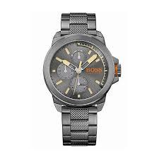 men s boss orange watches fashion watches h samuel hugo boss orange men s grey ion plated chronograph watch product number 4509978