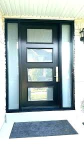 frosted glass exterior door black front with modern doors full oval entry french inserts f