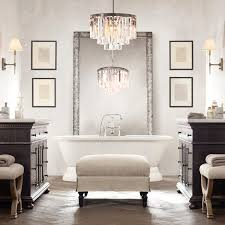 12 best ideas of modern bathroom chandeliers