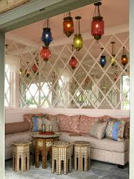 Modern Moroccan Style Living Room Small Bathtub Shower