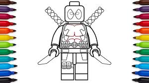 Small Picture How to draw Lego Deadpool Marvel Superheroes coloring pages