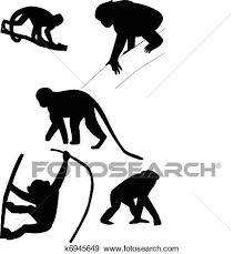 猿 シルエット クリップアート