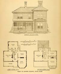 architecture houses blueprints. Modren Houses 1878 Print House Architectural Design Floor Plans Victorian Architecture  MAB1 Throughout Houses Blueprints R
