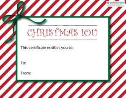 christmas certificates templates printable christmas gift certificates lovetoknow