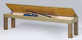 dining pool table bench with storage