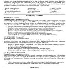Human Resource Resume Objective Hr Resumejectives Managerjective Statement Generalist Sample Human 22