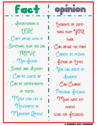 Fact Vs Opinion Anchor Chart Fact And Opinion T Chart Fact Opinion Teaching Writing