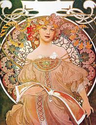 alphonse mucha painting daydream reverie art nouveau lady by masterpieces of art gallery
