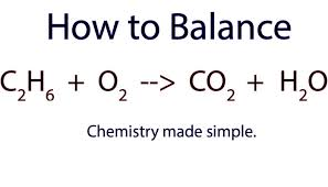 how to balance c2h6 o2 co2 h2o ethane combustion reaction you