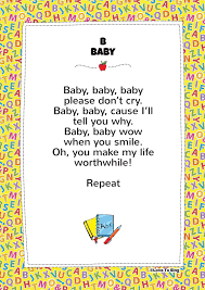Children's song, england/europe the abc song is the most popular song to help you learn the english alphabet. B Baby Phonics Song Free Video Song Lyrics Activity Ideas Phonics Song Baby Phonics Baby Songs