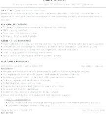 Bartending Resume Template Mesmerizing Server And Bartender Resume Fullofhell