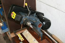 homemade wood lathe drill press