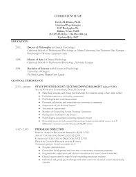 Wonderful Psychology Major Resume Ideas Entry Level Resume