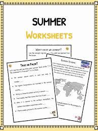 Summer Facts & Worksheets For Kids