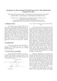 Pdf Integration Of A Plasma Doping Pulsion Process Into A