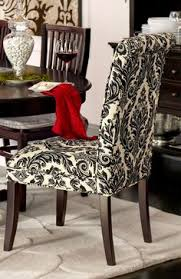 dining chairs in statement making damask are dramatic and clic