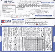 Details About Air Duct Sizing Calculator Slide Chart Hvac Ductulator
