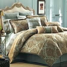 aqua and brown bedding blue and chocolate comforter sets queen size bed with cream velvet headboard and silver blue and aqua and brown comforter sets king