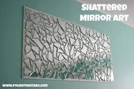 Broken Mirror Wall Art Mirror Wall Art Retro Eames Era Midcentury Modern 1960u0027s