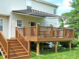 motorized awnings for decks patio porch w74