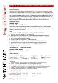 teachers resumes examples english teacher resume sample best resume collection
