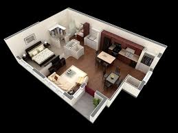 One Bedroom Apartment Design Shock 50 1 House Plans Architecture 15