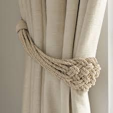 Designer Curtain Tie Backs Plaited Rope Natural Curtain Tieback Laura Ashley In 2020