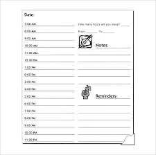 Weekly Planner Excel Hourly Template Free Schedule Printable